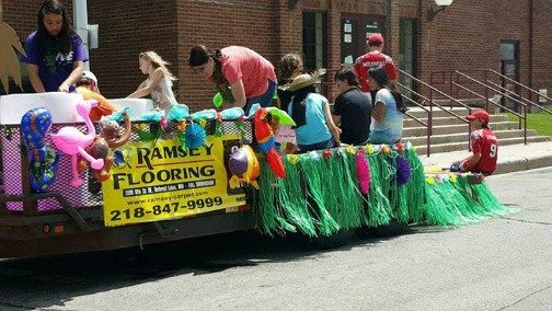Ramsey Flooring Water Carnival Float